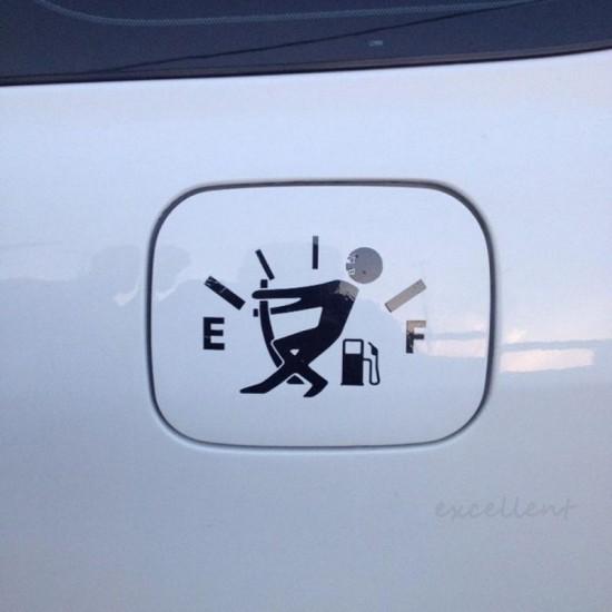 Benzinetank Autosticker