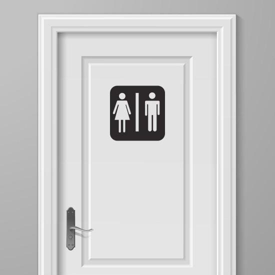 WC Deursticker Toilet Deursticker Door Teken