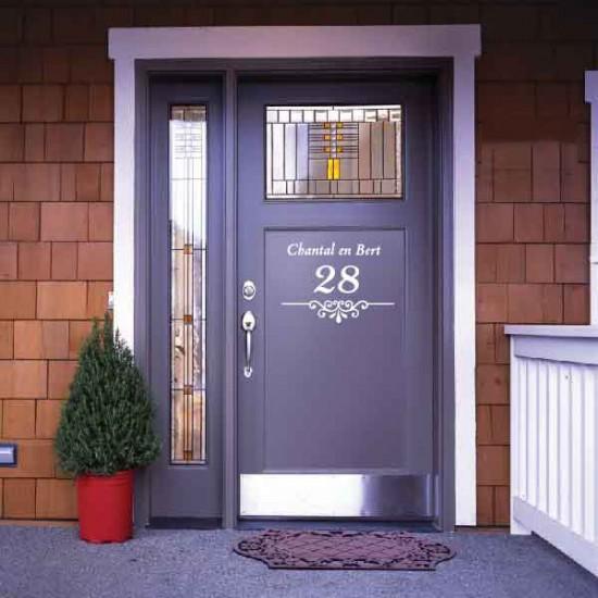 Deursticker Straat + Huisnummer
