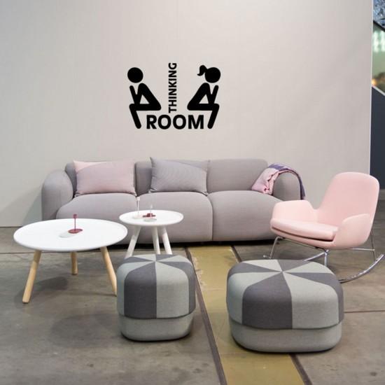 Thinking Room Sticker voor Deur Raam Muur