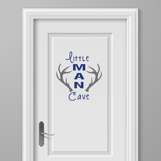 Gewei Deursticker Little Man Cave