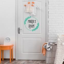 Deursticker Naam voor Baby Kamer