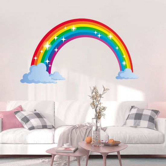 Regenboog Wolken Muursticker Kinderkamer