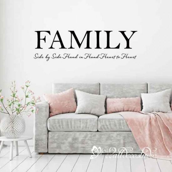 Muurteksten Family voor Woonkamer