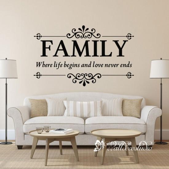 Familie Muurteksten Where Life Begins and Love Never Ends