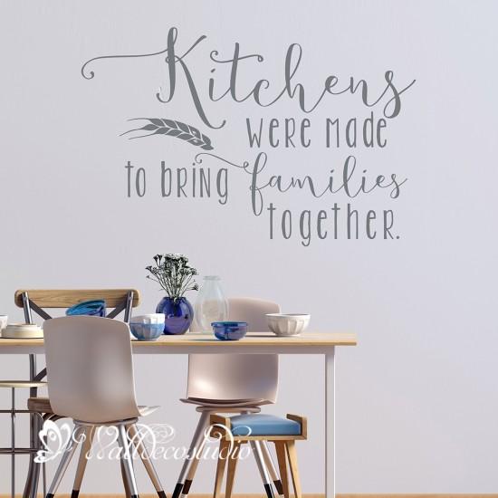 Muurteksten Keuken Kitchen Family Tekst