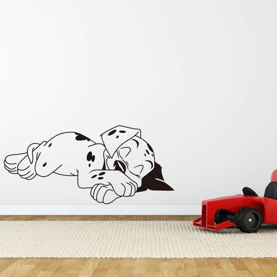 Muursticker Slapende Hond