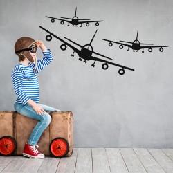 Muursticker Drie vliegtuigen