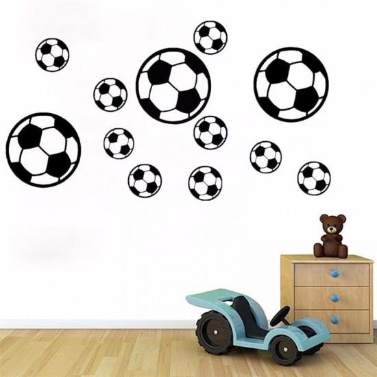 Muursticker Voetbal Patroon