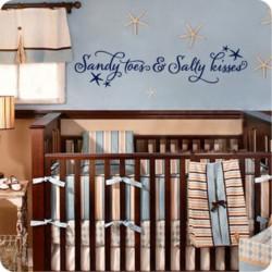 Muursticker Sandy Toes Salty Kisses voor Babykamer