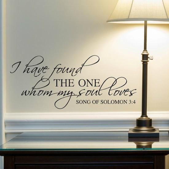 Muursticker Bijbel Vers Song of Solomon