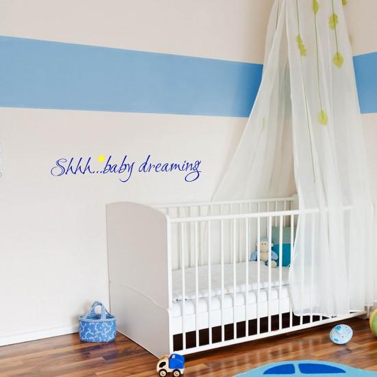 Muursticker Shhh Baby Dream voor Babykamer