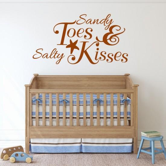 Muursticker Tekst Sandy Toes Salty Kisses