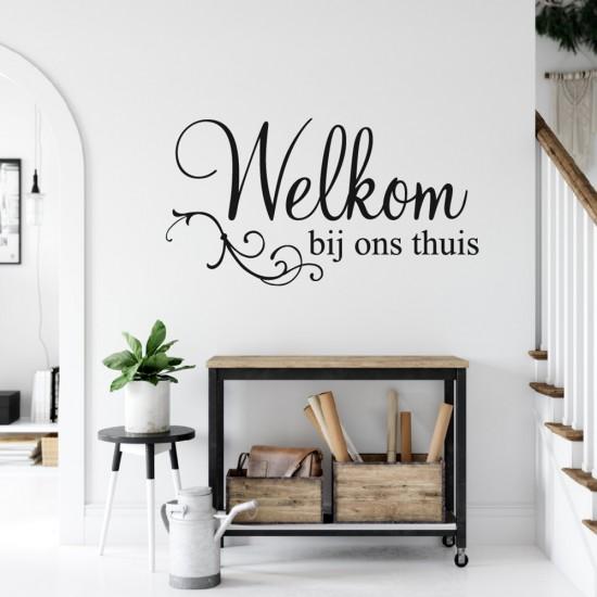 Muursticker Tekst Welkom Bij Ons Thuis