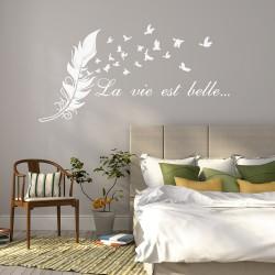 Muursticker Vogelstand van Veren La Vie Est Belle