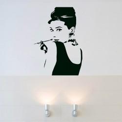 Audrey Hepburn Muursticker