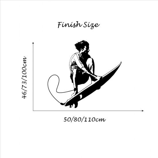 Muursticker Surfing