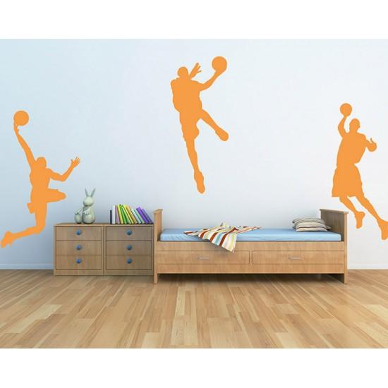 Basketbalspelers Muursticker