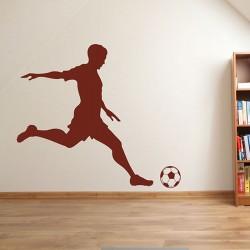 Muursticker Voetballer en Voetbal