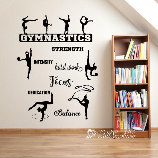 Gymnastische Muurteksten