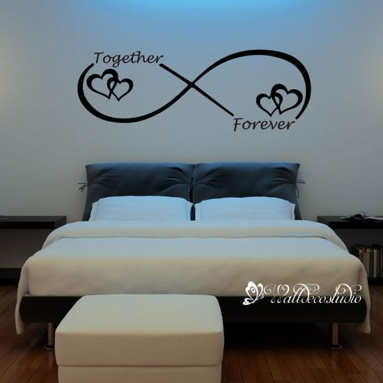 Muursticker Liefde Oneindig Symbool