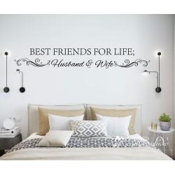 Muurteksten Best Friends for Life Husband and Wife