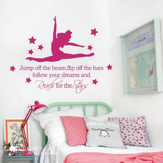 Gymnastiek Muurteksten Reach for the Stars