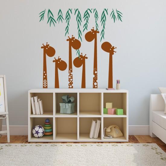 Muursticker Giraf en Vlechtwerk voor Babykamer