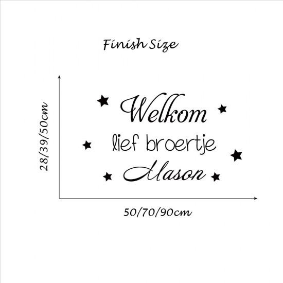 Tekst Geboortekaartje Welkom Lief  Broertje met Baby Naam