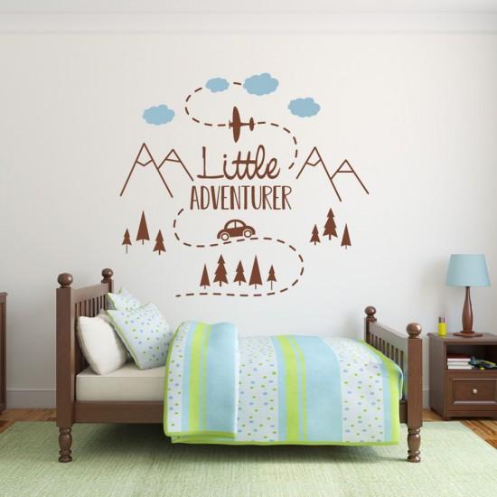 Muursticker Little Adventure voor Babykamer