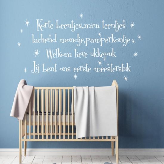 Muurteksten met Sterren voor Babykamer