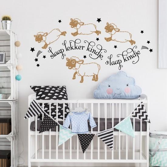 Muursticker Schapen voor Baby Slaapkamer