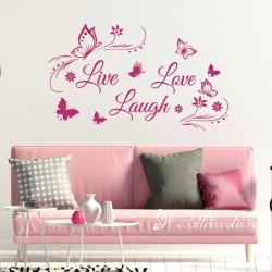 Muursticker Live Love Laugh