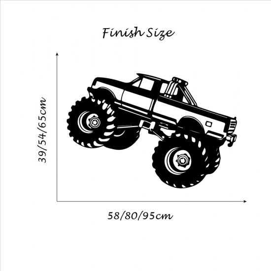 Muursticker Auto Jeep
