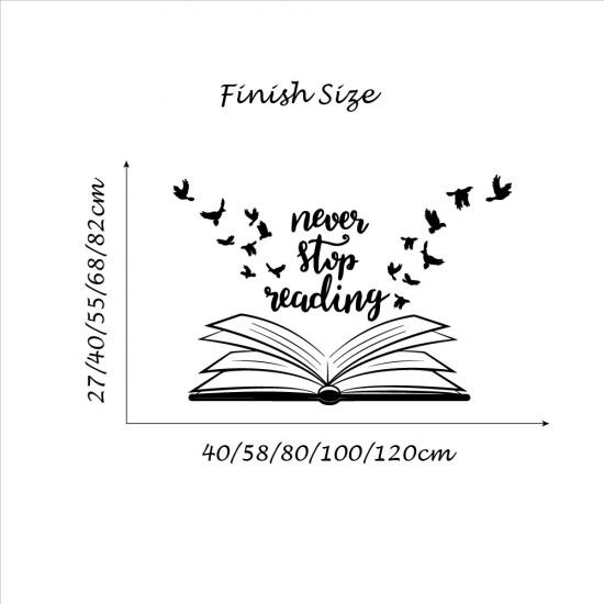 Muurteksten Never Stop Reading