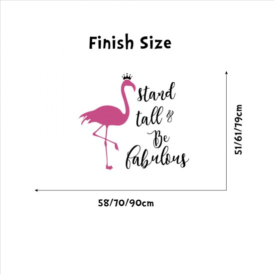 Flamingo Muursticker Stand Tall Be Fabulous