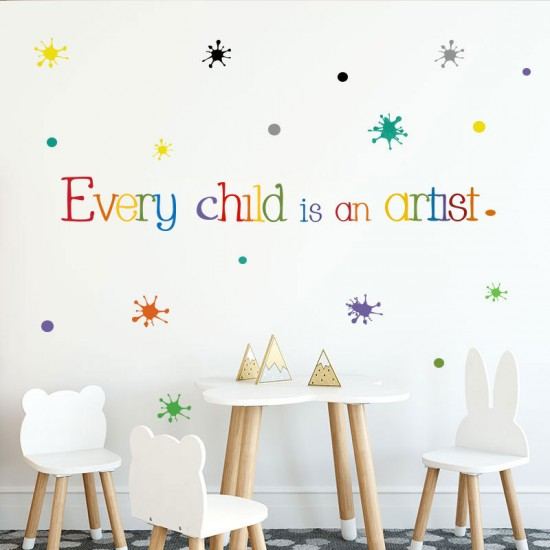 Muursticker Every Child Is an Artist