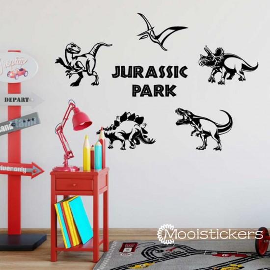 Vijf Dinosaurussen