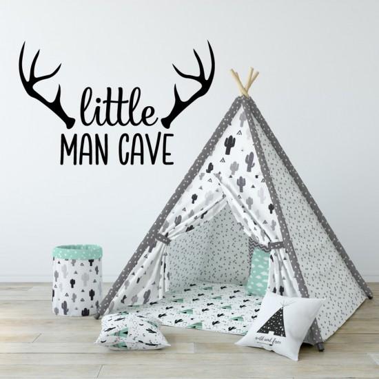 Muursticker Gewei Little Man Cave