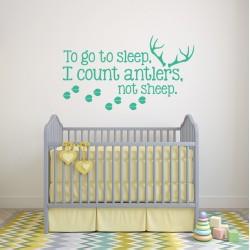 Muurteksten To Go to Sleep voor Baby Kamer