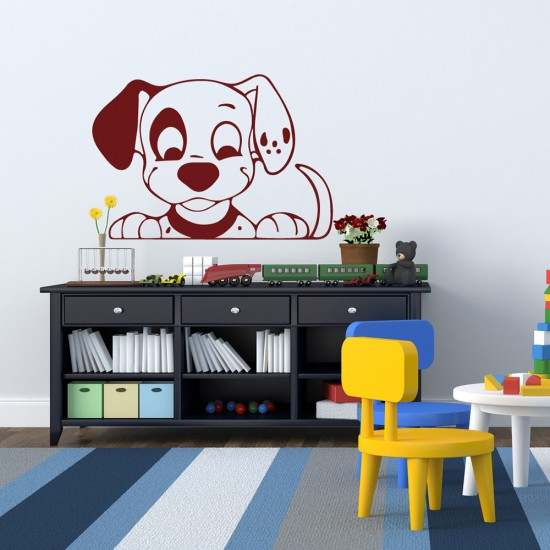 Muursticker Puppy Hond