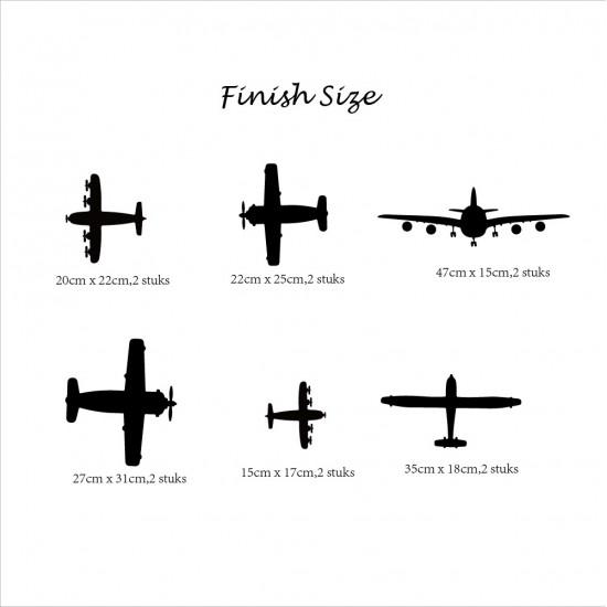 Muursticker Vliegtuigen voor Jongens Kamer