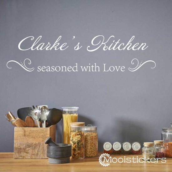 Keuken Sticker Seasoned With Love
