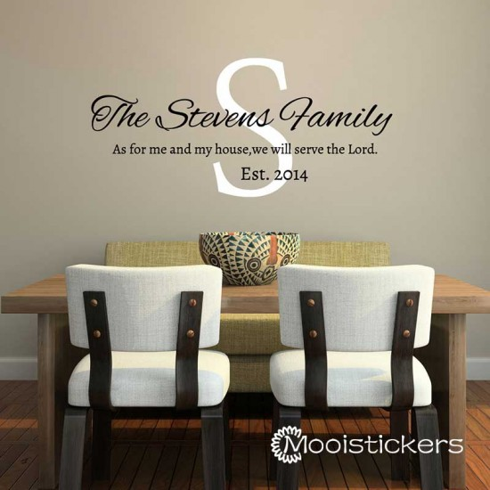 Serve The Lord Familie Naam Sticker