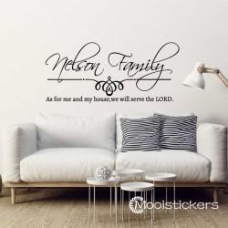 Eigen Familie Naam Sticker