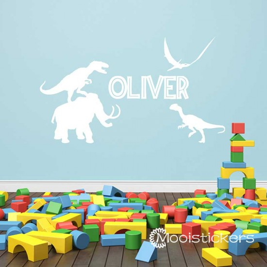 Dinosaurus Familie Met Naam