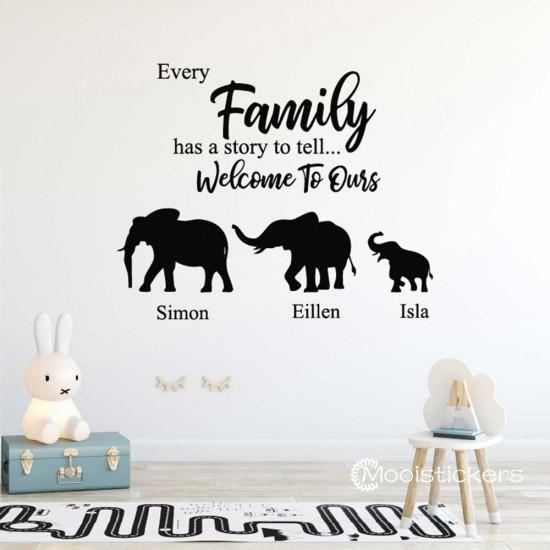 Olifanten Met Familieleden