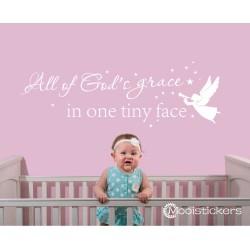 All Of God's Grace Engel Teksten Muursticker