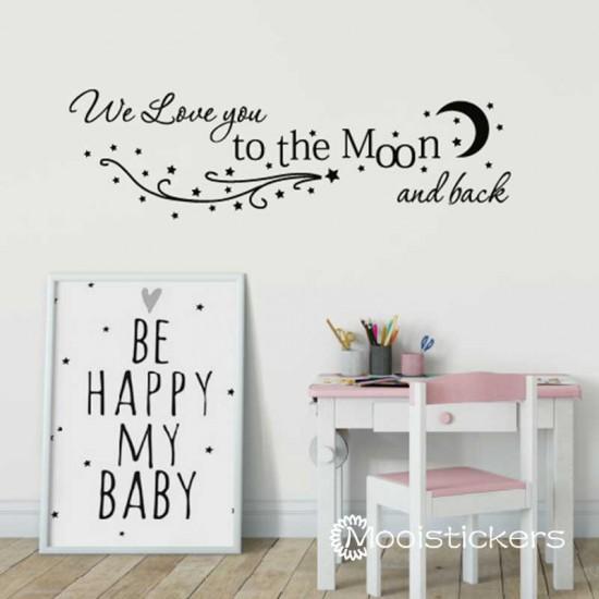 Stetten Maan Tekst Voor Baby Kamer