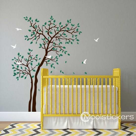 Twee Bomen Met Vogels